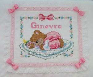 Coperta copripiumino con orsetto dormiglione per Ginevra