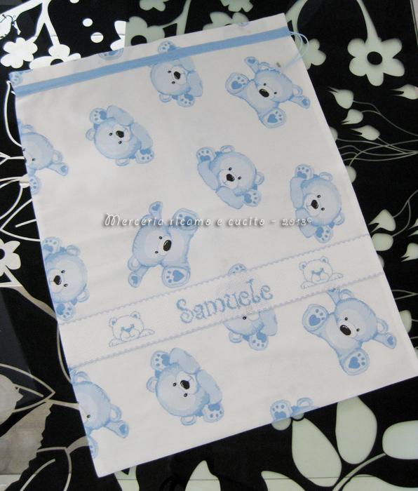 Sacchetto con orsetti nascita e asilo per Samuele