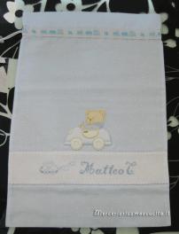 Sacchetti pois nascita e asilo con orsetti per Matteo