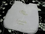 Camicina battesimale con angioletto e asciugamano per Emanuele e Gabriele