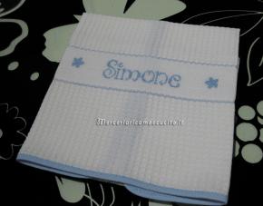 Asciugamani asilo in spugna e nido d'ape per Simone