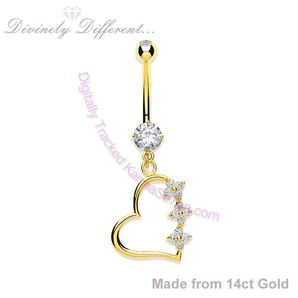 Image showing Open Heart Gold Belly Bar