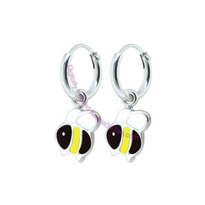 Karma Se7en Hoop & Charm Earrings, Bumble Bee Design