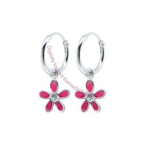 Karma Se7en Pink Flower Earrings