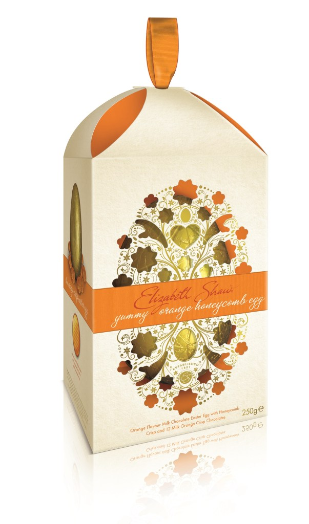 Image of boxed Elisbath Shaw Orange Crisp Easter Egg