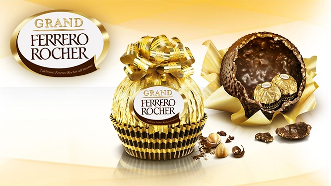 Image showing Grand Ferrero Rocher wrapped and open