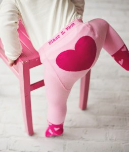 Image showing Rose & Blade Pink Heart Tights