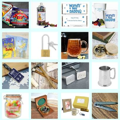 Image showing a selection of Born Gifted-Father's Day gifts.