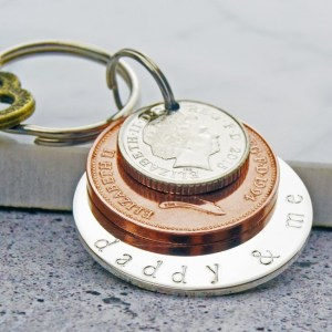 Image showing the 'My Daddy & Me' Coin Keyring