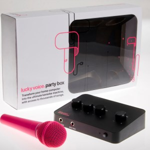 Mother's Day Deal - Image showing Pink Lucky Voice Karaoke Kit