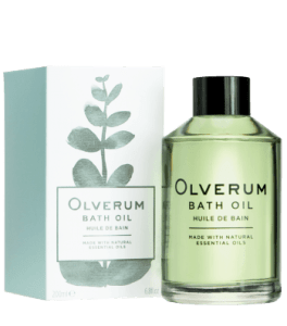 Image showing box and bottle of Olverum Bath Oil