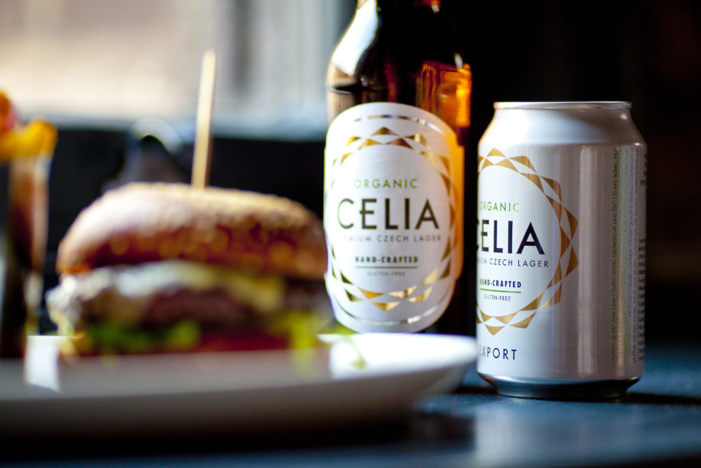 Image showing a bottle and can of CELIA Lager