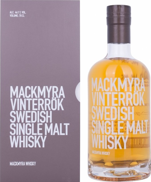 Image featuring box and bottle of Mackmyra Vinterrock Swedish Single Malt Whisky