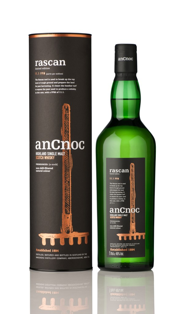 Image featuring anCnoc Rascan Single Malt Tube and Bottle