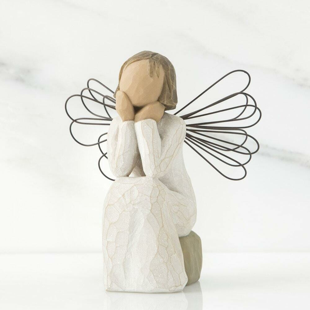 """WILLOW TREE ANGEL OF CARING 4"""" H 26079 - SOLD OUT"""