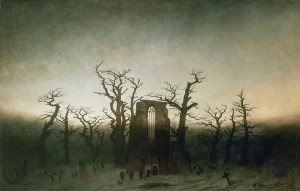 Abbey in oak grove (Abtei im Eichwald), 1810, by Caspar David Friedrich (1774-1840), oil on canvas, 110.4x171 cm.