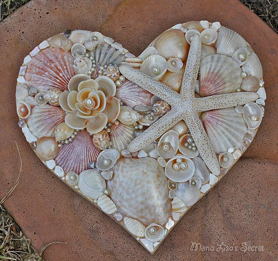 Valentines Day Gifts Seashell Heart Beach Wedding Decor