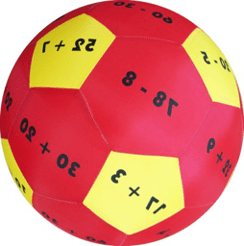Hands-On Play and Learn Add and Subtract to 100 Fabric Ball sold by Gifts for little hands
