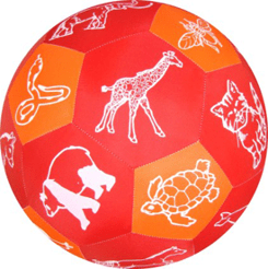 Play and Learn Animals Fabric Ball sold by Gifts for little hands