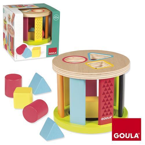 Goula Geometric Shapes Drum Sorter -2