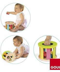 Goula Geometric Shape Sorter Drum -3
