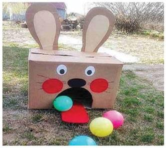 Easter bunny ball game fro gifts for little hands blog