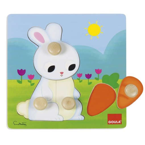 Goula Rabbit Wooden Peg Puzzle sold by Gifts for Little Hands