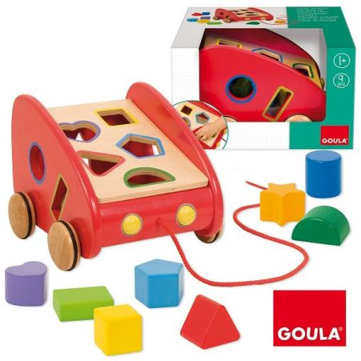 Goula Sorting Pull along Car -2