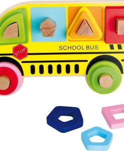 Plug Puzzle Shapes School Bus sold by Gifts for Little Hands