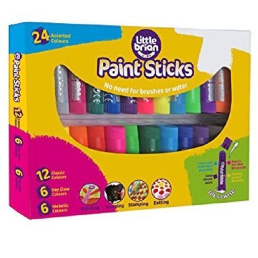 Paint Sticks Assorted Colours - 24 pack sold by Gifts for Little Hands