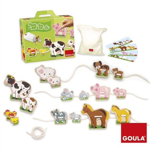 Goula Mother and Babies Lacing Game sold by Gifts for Little Hands