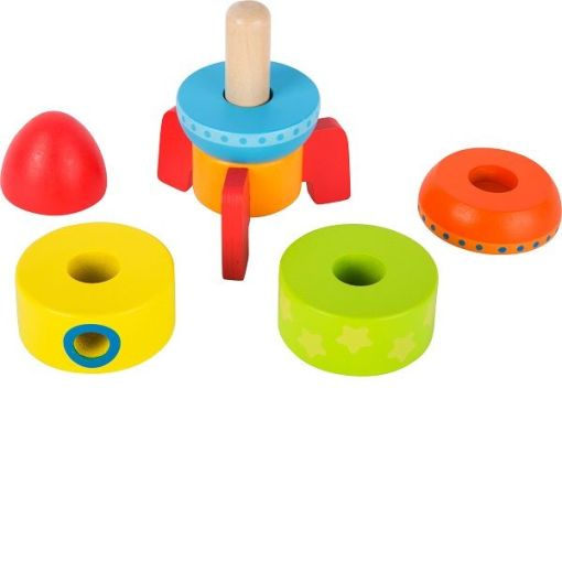 Legler Colourful Wooden Stacking Rocket sold by Gifts for Little Hands
