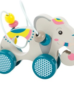 Push-along Animal with Bead Rollercoaster Jungle sold by Gifts for Little Hands