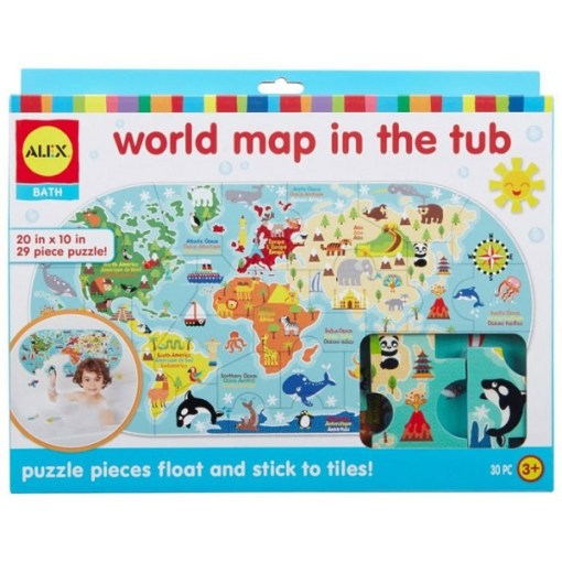 World Map in the Tub