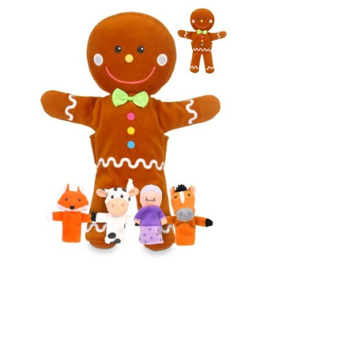 Gingerbread Man Hand and Finger Puppet Set sold by Gifts for Little Hands