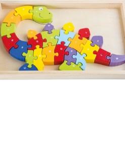 Wooden 3D ABC Dinosaur Puzzle