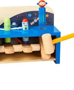 Wooden Hammering Space Bench