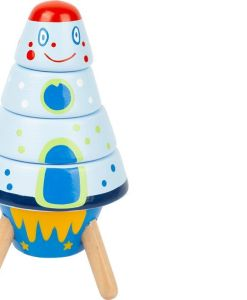 Wooden Stacking Space Rocket