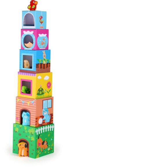 Stacking Cube Pets Tower