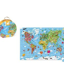 Janod Giant World Map 300 Piece Puzzle