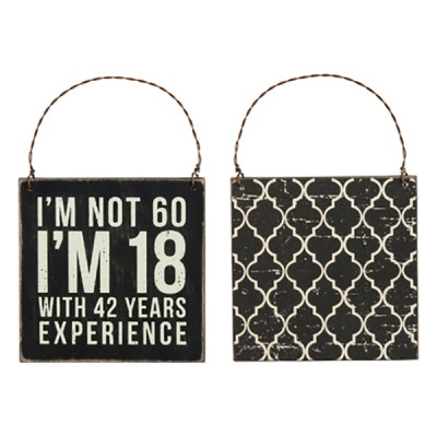 60th Birthday Hanging Sign