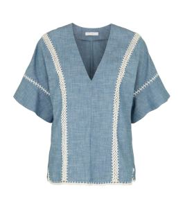 Chambray Tunic Top by Chloe