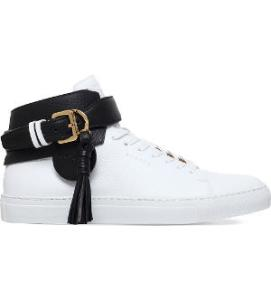 Buscemi 100mm Tassel Leather High Top Trainers