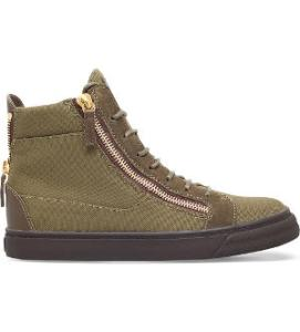 GIUSEPPE ZANOTTI Canvas high-top trainers