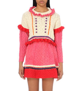 Katie Jones Princess women's cropped wool jumper at Selfridges
