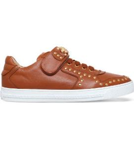 Versace Medusa leather low-top trainers