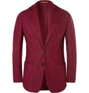 Berluti claret blazer at Mr Porter - Gift Shopping Trends