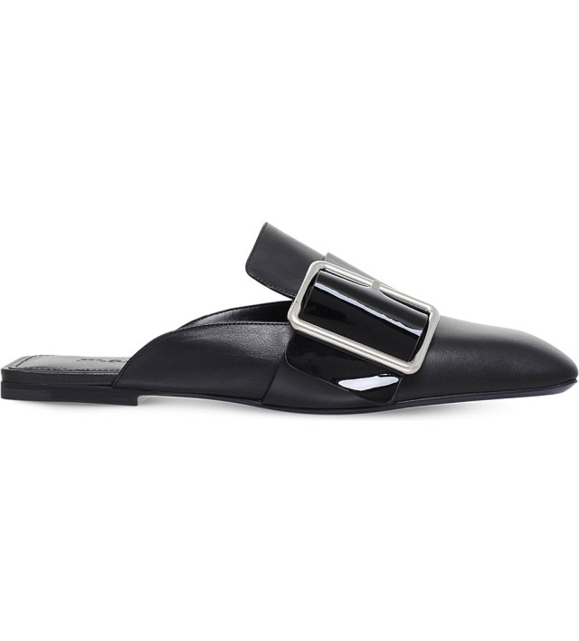 Jill Sander Buckled leather slippers at Selfridges