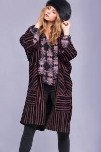 Solange Striped Coat