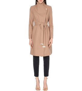 Ted Baker Longline wool-blend coat at Selfridges